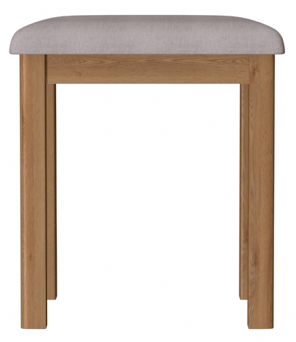 Richmond Rustic Oak Dressing Table Stool